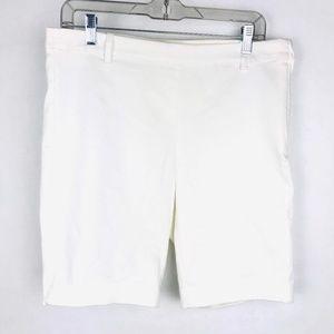 H&M White Bermuda Shorts